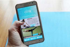 application mobile yoga yogom