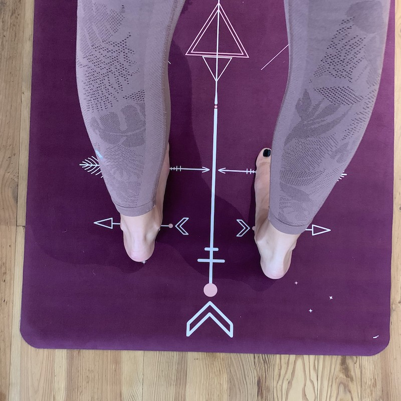 tapis de yoga performance yogom bodyline totem prune