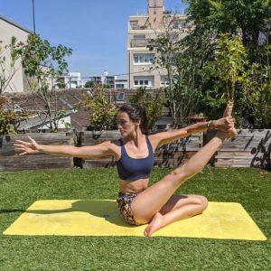 Cams yoga pour yogom tapis de yoga performance bodyline jaune