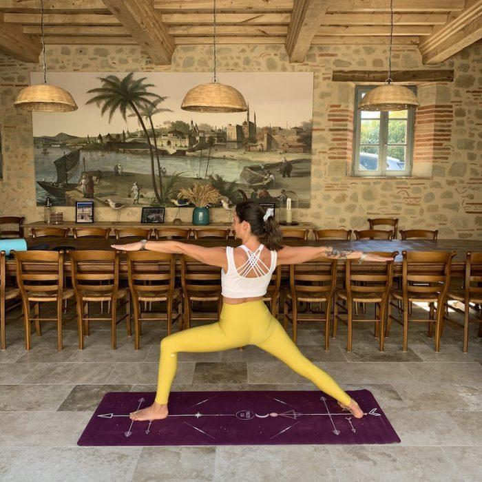 tapis de yoga performance bodyline totem prune