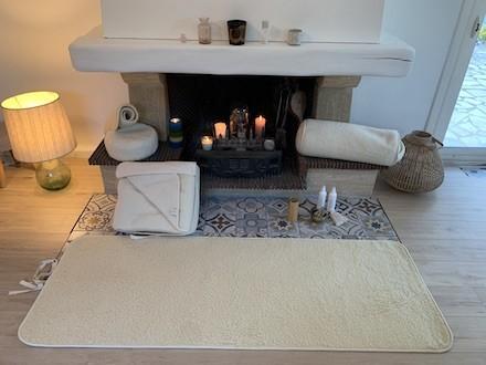 tapis de yoga naturel kundalini fabriqué en europe