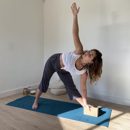 tapis de yoga Yomad Mukti bodyline Yogom réversible brique de yoga