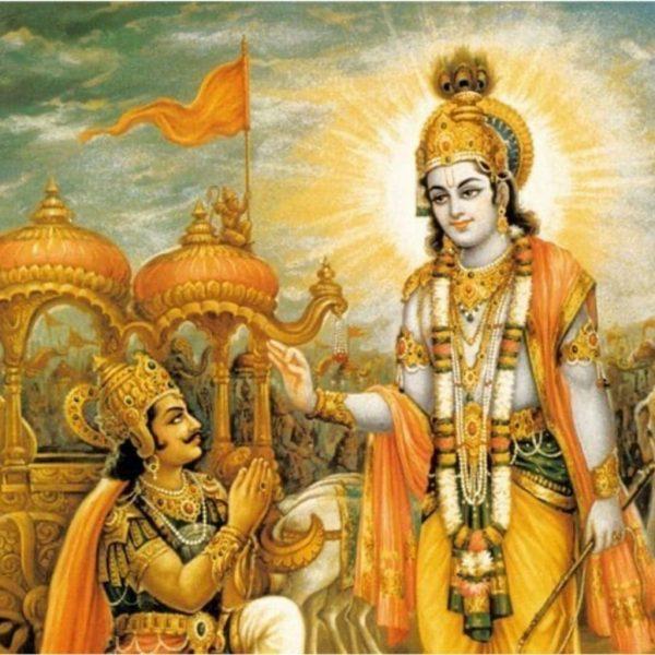 la bhagavad gita dialogue entre Krishna et Arjuna entre