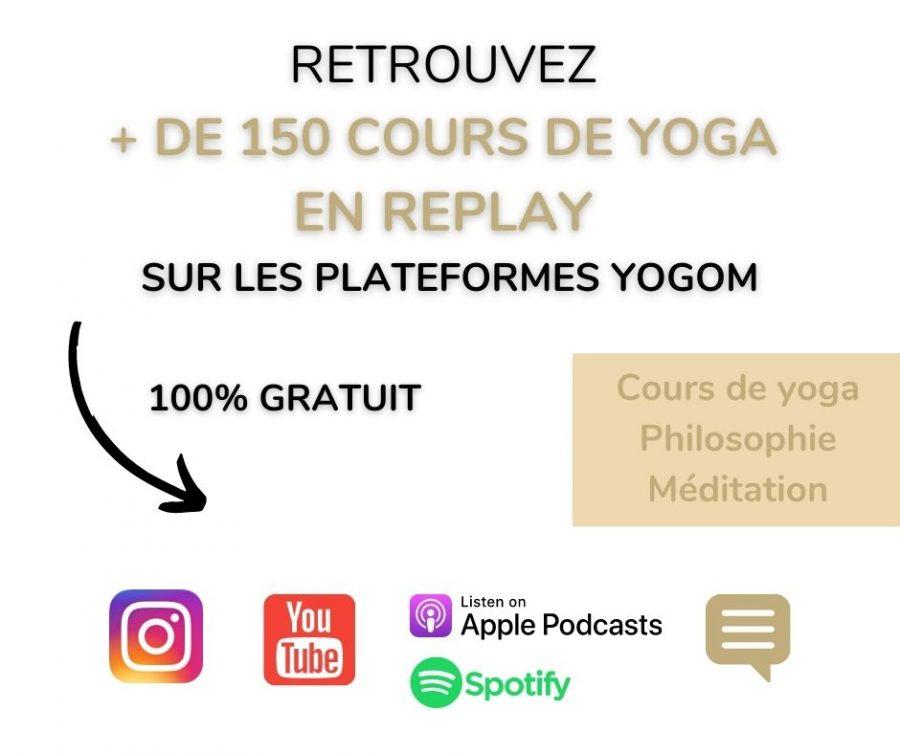 cours de yoga en ligne gratuit Yogom