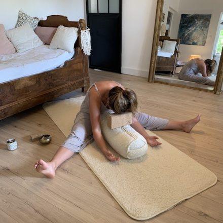 comment utiliser le bolster naturel yogomen yin yoga