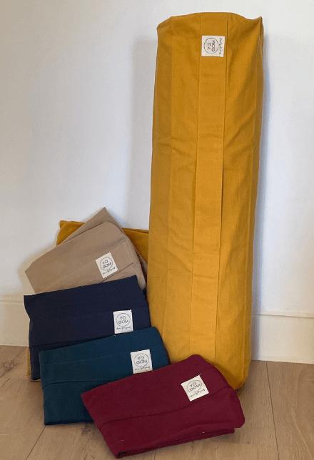 Housse de bolseter yoga vide à remplir soi même Yogom : en coton 6 couleurs