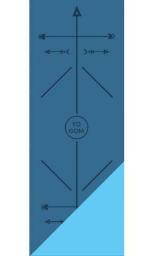 Tapis de yoga épais Yomad Yogi Bodyline Yogom canard et turquoise